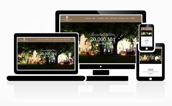 Realizzazione Sito Web Villa Valier