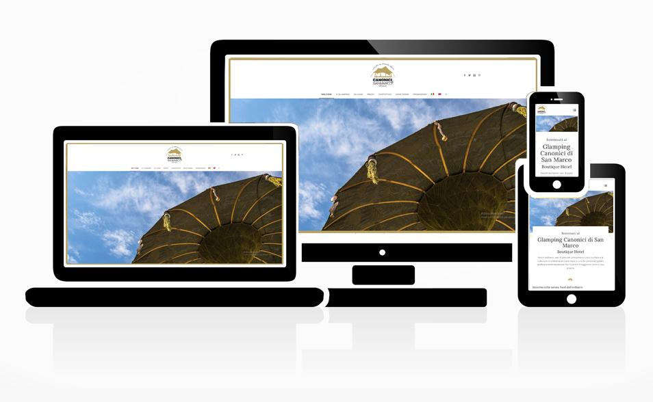 Sito Web Glamping Canonici
